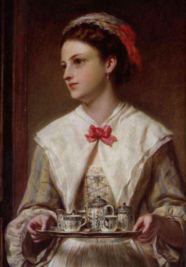 Официантка (1872), картина, написанная масляными красками, Джон Роберт Дикси